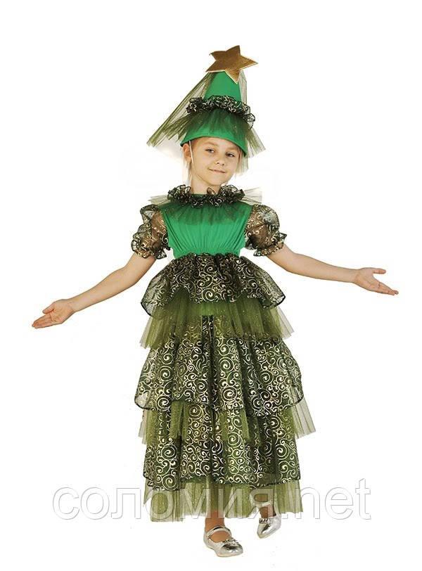 Детский карнавальный костюм для девочки Новогодняя Елочка 110-140р