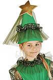Детский карнавальный костюм для девочки Новогодняя Елочка 110-140р, фото 3