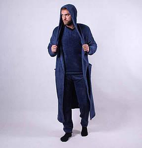 Набор мужской пижама и халат  (махра) р. 44-56