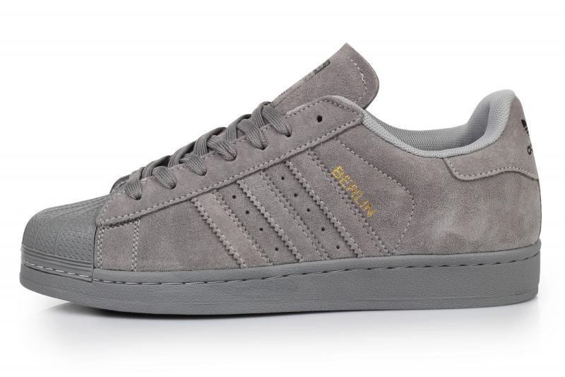 Мужские кроссовки Adidas Superstar Supercolor Suede Grey | Адидас суперстар суперколор серые суид
