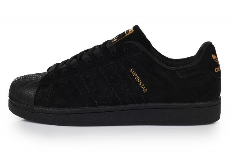 Мужские кроссовки Adidas Superstar Supercolor Suede Black | Адидас суперстар суперколор черные суид