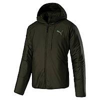 Куртка спортивная мужская Puma warmCELL PAD 851599 15 (зеленый, хаки, осень-зима, прямого кроя, логотип пума)