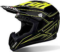 Шлем для мотокросса Airoh Switch Spacer черно желтый, XL, фото 1