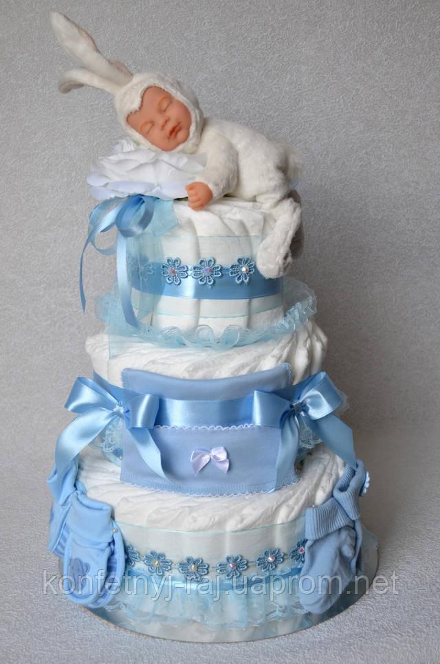 Торт з памперсів з лялькою