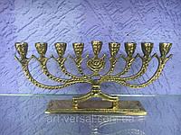 "Еврейский подсвечник ""Ханука (М)"" бронза на 9 св., фото 1"