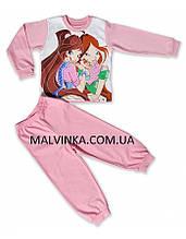 """Пижама для девочки """"Флора"""" 104  р интерлок  fhn 2720."""