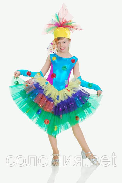 Детский карнавальный костюм для девочки Хлопушка 116-134р