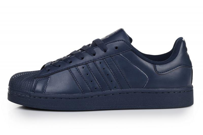 Мужские кроссовки Adidas Superstar Supercolor PW Navy | Адидас супестар суперколор синие