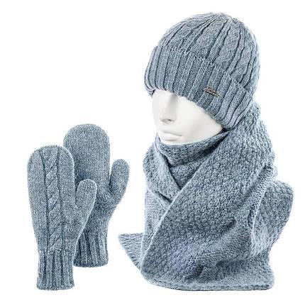 Комплект SHH-04 шапка шарф варежки, фото 2