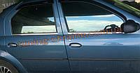 Хром накладки на двери молдинг дверей для Renault Logan 2006-2013
