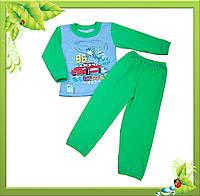 """Пижама для мальчиков  с однотонного футера начесного """"ВЕРТОЛЕТ""""."""