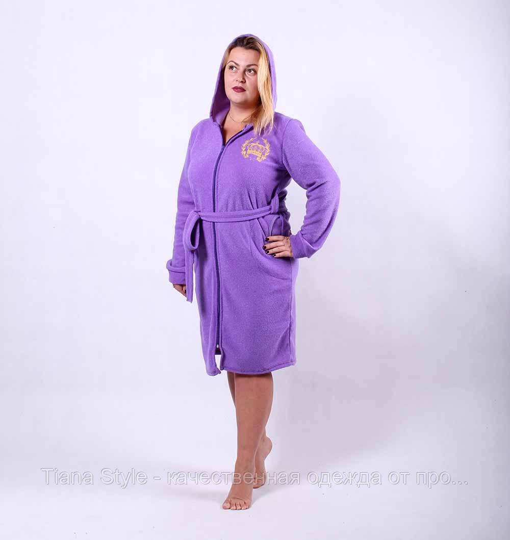 5606d740db4b0 Махровый женский халат с капюшоном
