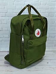 Спортивный рюкзак Fjallraven Kanken оливкового цвета (люкс копия)