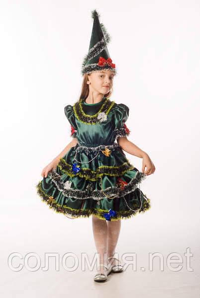 Детский карнавальный костюм для девочки  Елочка 98-140р