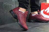 Зимние кроссовки Nike Air Max Tn (бордовые) ЗИМА
