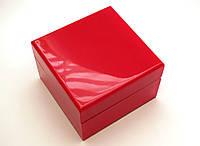 Шкатулка с подушечкой для часов, коробочка подарочная красного цвета