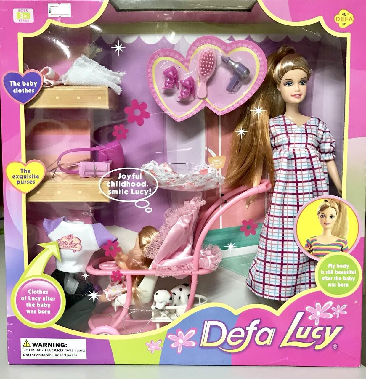 Кукла Барби беременная с ребенком и аксессуарами