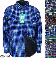 Рубашки мужские на меху, микс (р.р. 6XL-10XL батал) от 5 штук