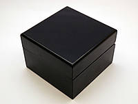 Шкатулка с подушечкой для часов, коробочка подарочная черного цвета