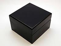 Шкатулка с подушечкой для часов, коробочка подарочная черного цвета, фото 1