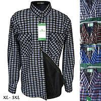 Рубашки мужские на меху, микс (р.р. XL-5XL норма) от 5 штук