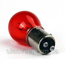 Лампа P21/5W (КРАСНАЯ)(12V)