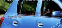 Хром накладки на ручки для Dacia Logan 2013+