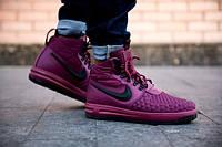 Кроссовки зимние мужские в стиле Nike Lunar Force 1 Duckboot розовые , фото 1
