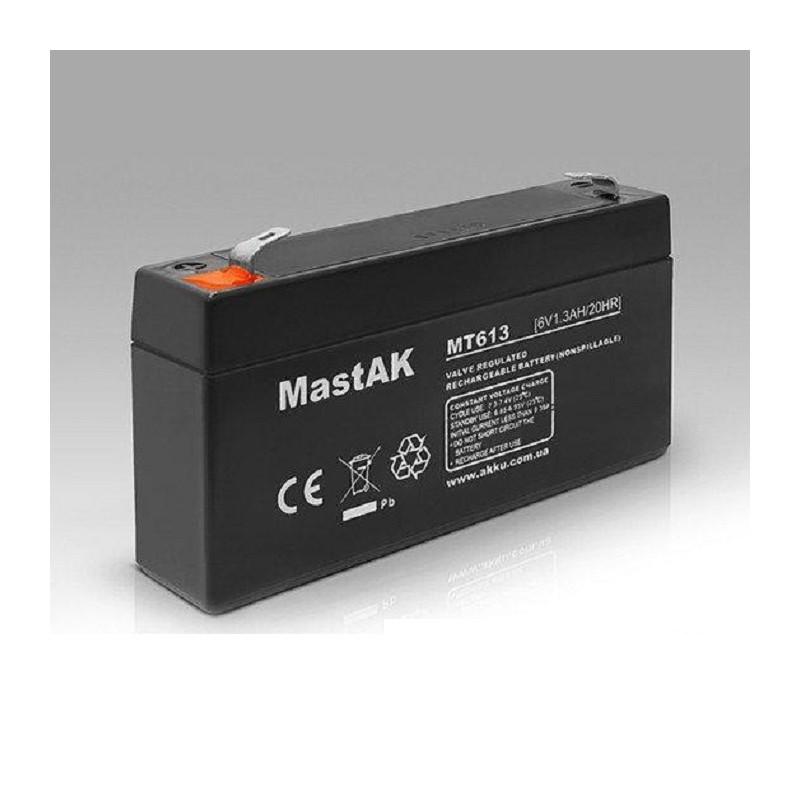 Аккумулятор MastAK MT613 6V 1.3Ah