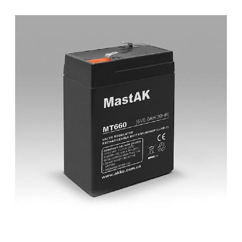 Аккумулятор MastAK MT660 6V 6Ah