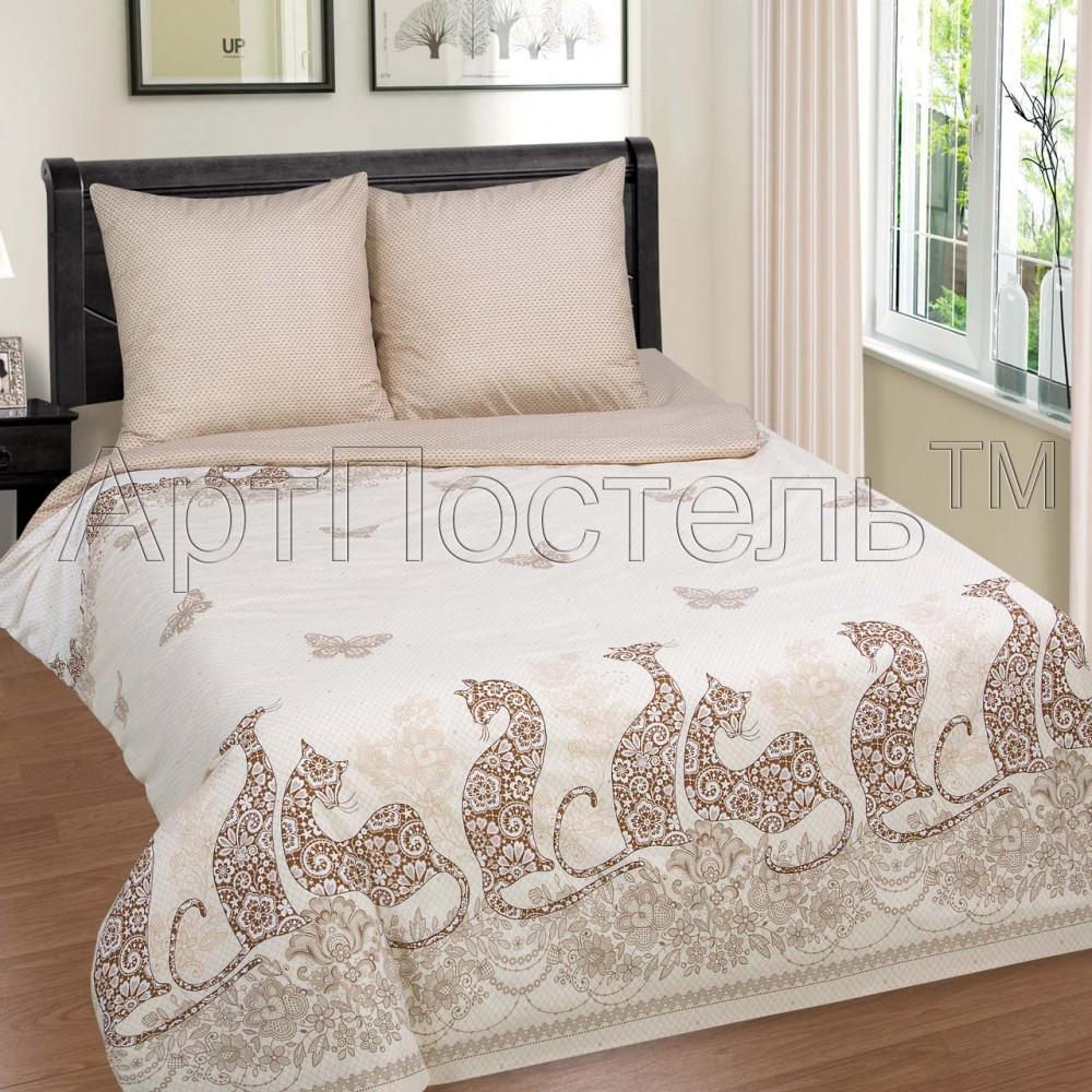Постельное белье Мери поплин  ТМ  Комфорт-текстиль  (Семейный)