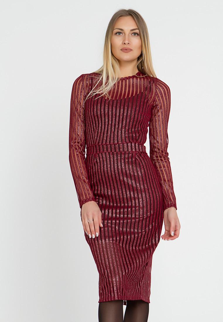 Платье LiLove 444 52-54 бордовый