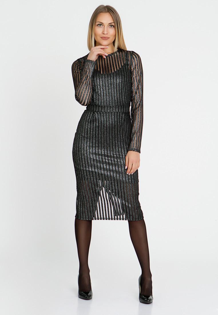 Платье LiLove 444-1 52-54 черный