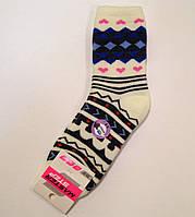 Полушерстяные махровые носки с рисунком