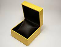Шкатулка с подушечкой для часов, коробочка подарочная желтого цвета