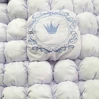 Детское одеяло Бом-бон. Именная вышивка, монограмма