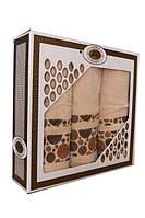 Набор махровых полотенец Турция 3ка (50x90x2 и 70x140) Беж