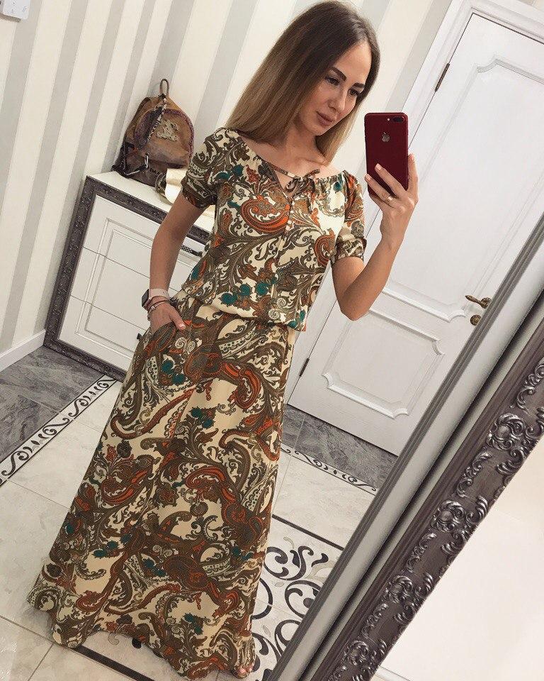 """Платье женское летнее в пол """"Марэ"""""""