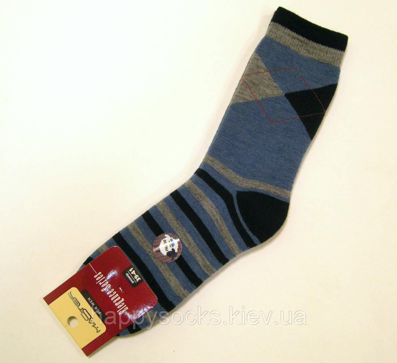 a70e5e99925c5 Мужские теплые полушерстяные носки в ромбы синего цвета, цена 75 грн.,  купить в Киеве — Prom.ua (ID#434373936)