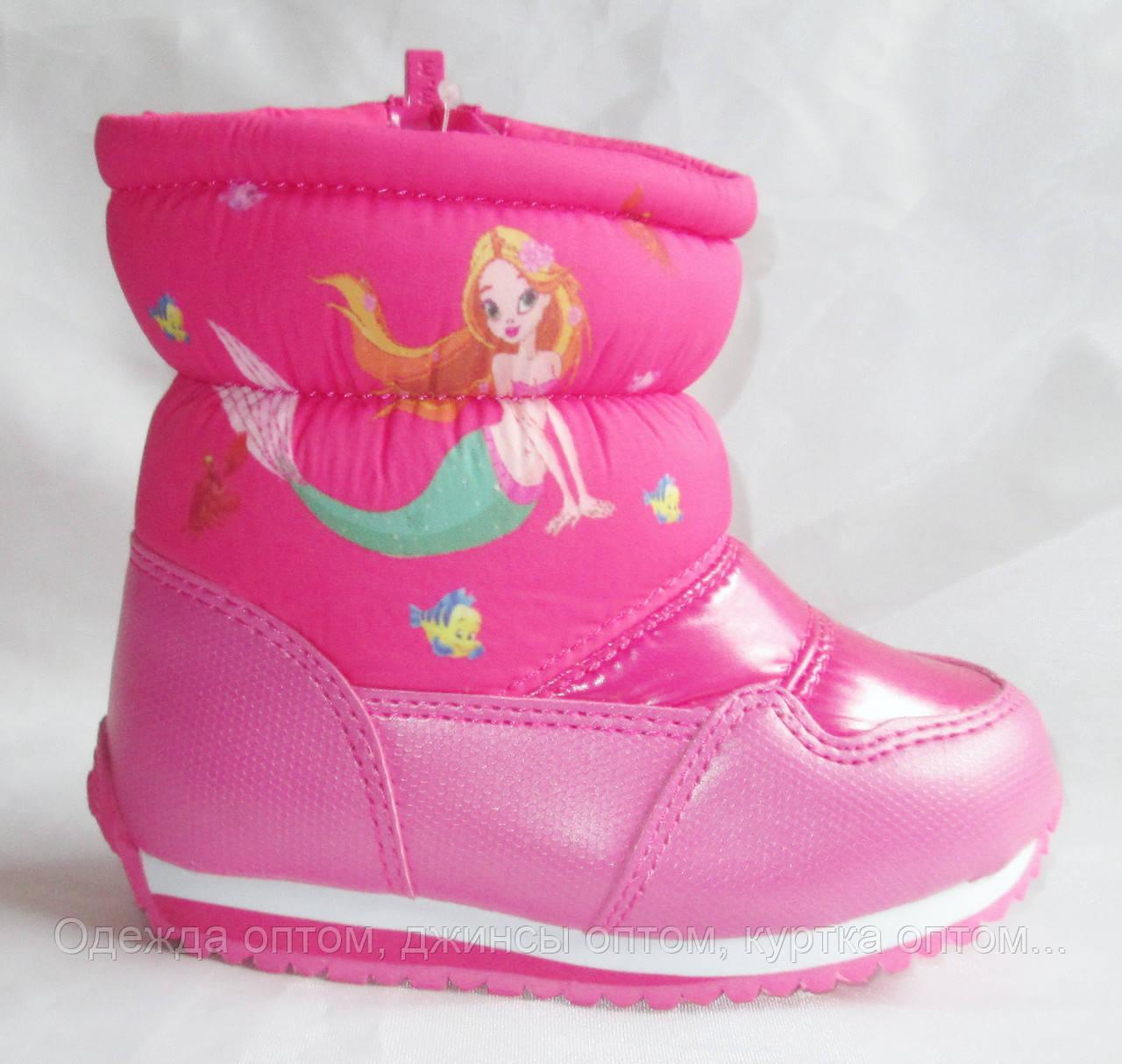 Детские зимние дутые сапоги для девочки TOM.M