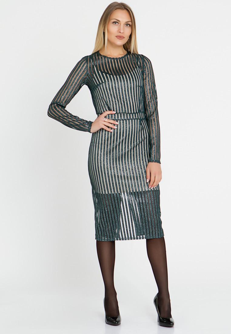Платье LiLove 444-2 52-54 зеленый