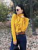 Вязаный свитер Зигзаг с горлом, в расцветках