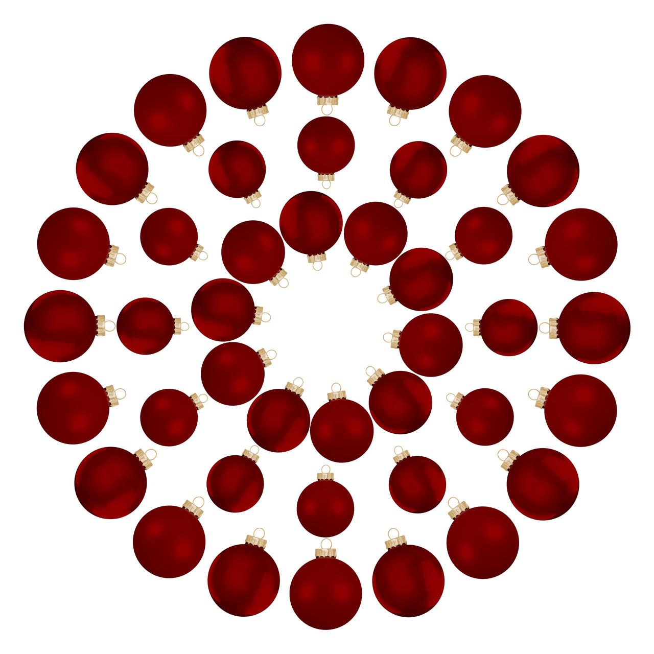 Елочные шары House of Seasons, комплект 42 шт, цвет красный