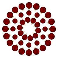 Елочные шары House of Seasons, комплект 42 шт, цвет красный, фото 1