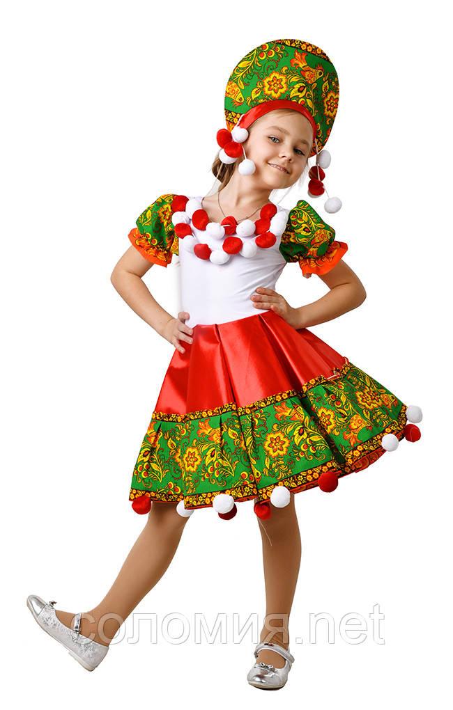 Детский карнавальный костюм для девочки  Матрешка 110-152р