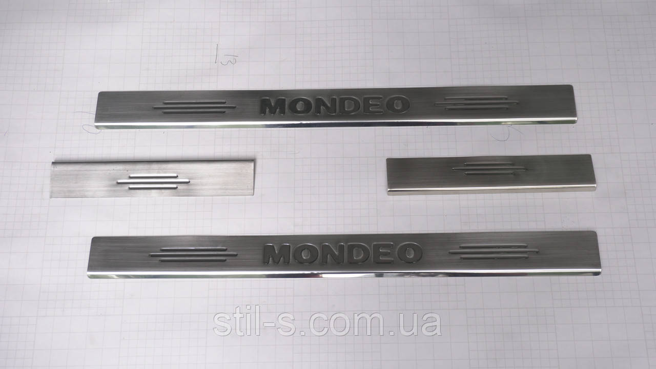Накладки на пороги Ford Mondeo MK 4 (2008-2012)