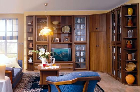Комплект в вітальню (стенка в гостиную) Морріс горіх Світ Меблів