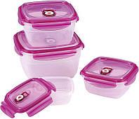 Набор вакуумных пластиковых контейнеров Renberg Food Pack 4 ёмкости с крышками