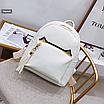 Рюкзак женский кожзам с кисточкой Fendi Бежевый, фото 4
