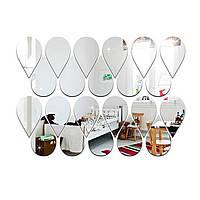 Наклейки акриловые капли дождя. Зеркальные для декора и дизайна. Набор - 22 штуки.